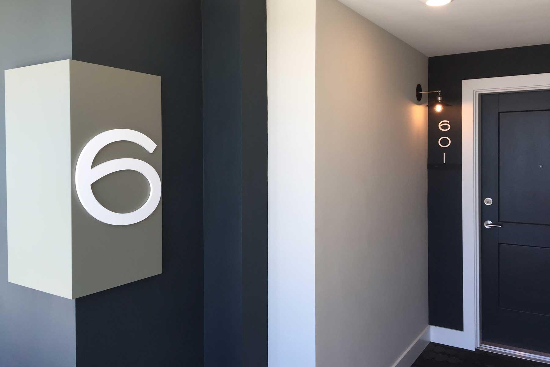 Front door to apartment 601